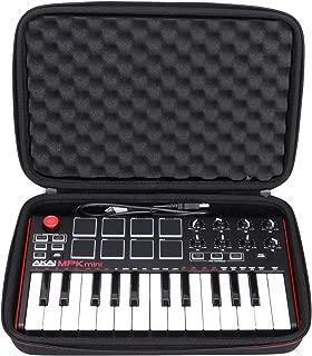 LTGEM Travel Hard Carrying Case for Akai Professional MPK Mini MKII & MPK Mini Play   25-Key Ultra-Portable USB MIDI Drum Pad & Keyboard Controller (black)