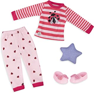 Glitter Girls by Battat - Ladybug Shimmer Pajama Top & Pant Regular Outfit - 14