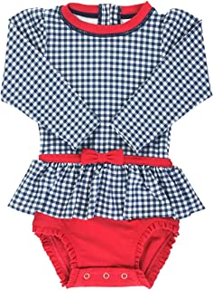 Best Baby/Toddler Girls Long Sleeve One Piece Swimsuit with UPF 50+ Sun Protection Review