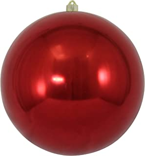 "Christmas by Krebs Giant Commercial Shatterproof UV Resistant Plastic Christmas Ball Ornament Wedding Party Event Decor, 12"" (300mm), Sonic Red"