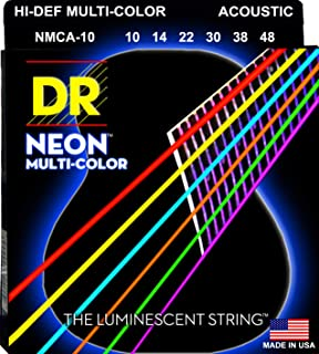 سلاسل غيتار دي آر سترينغز HI-DEF NEON الصوتية (NMCA-10)