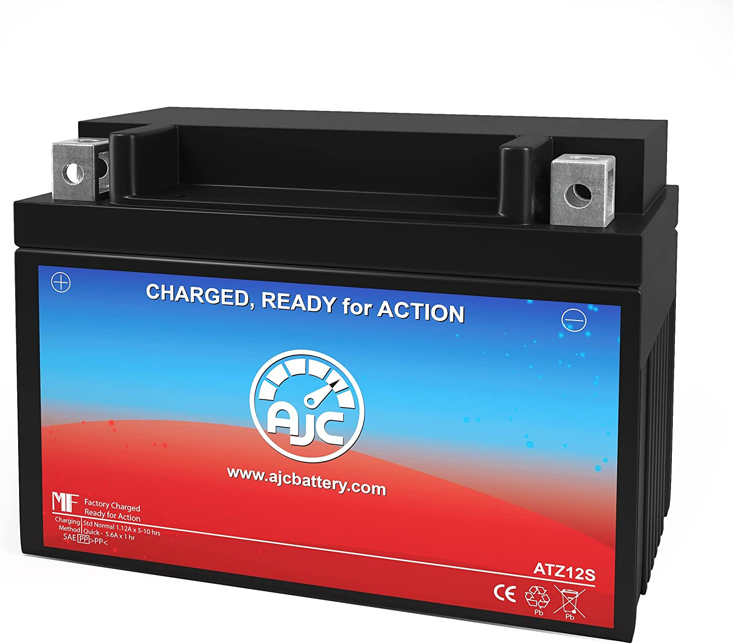 AJC Battery Compatible with Power Source WPZ12S Powersports Battery