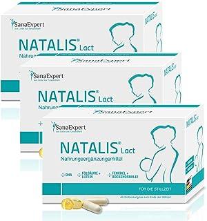 SanaExpert Natalis Lact, näringstillsats för amning, DHA, vitaminkomplex, folsyra, fenchel, bockhäckkla (3)