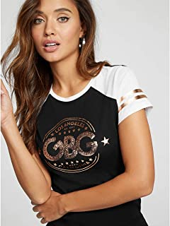 G by GUESS Women's Rani Raglan Logo Tee