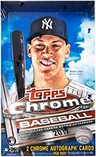 Topps Chrome 2017 Baseball Hobby Box - 2 Autos PER Box!