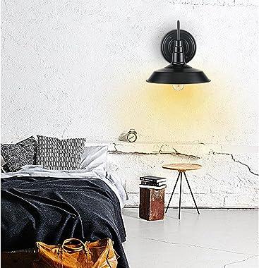 Lightess Black Wall Sconces Lighting Gooseneck Industrial Barn Lights Vintage Farmhouse Wall Lamp, CY-8