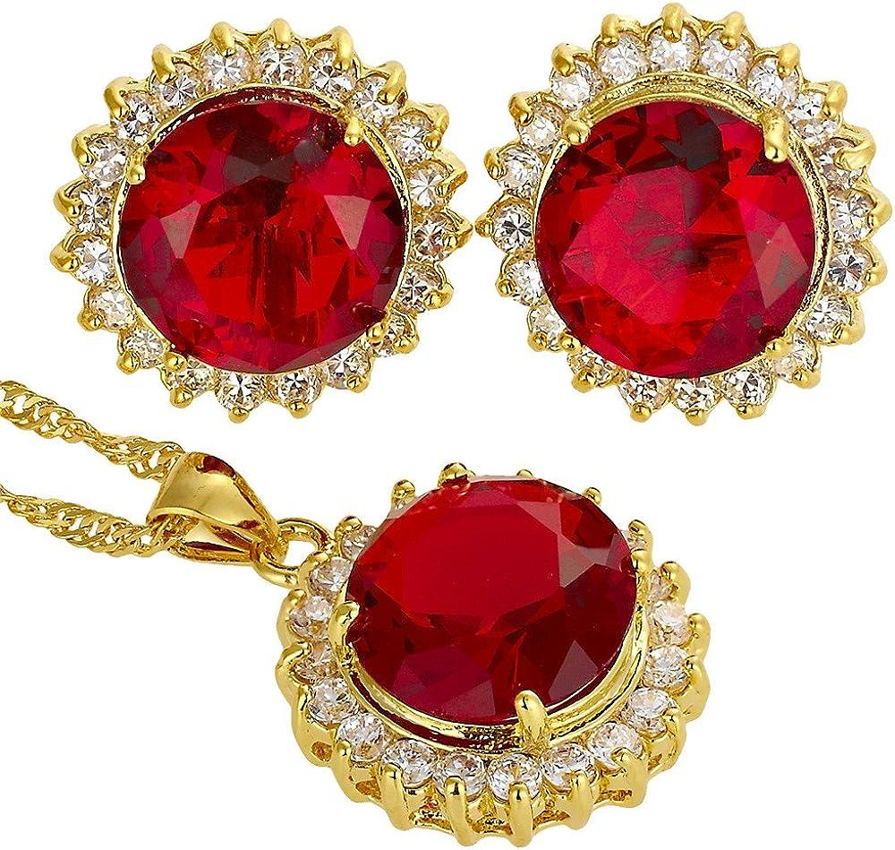 [RIZILIA BLOSSOM] Jewelry Set Pendant with 18