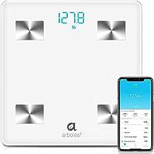 Arboleaf Digital Scale, Bluetooth Smart Scale Bathroom Weight Scale, Body Fat Monitor, 10 Key Composition, iOS Android APP...