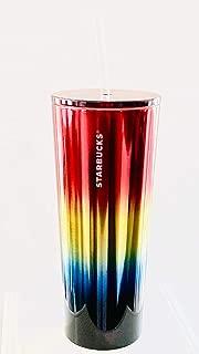 Starbucks Rainbow Venti Cold Cup With Straw, 24 Fl Oz
