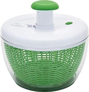 Farberware Pro Pump Spinner fácil de usar con cuenco, colador y sistema de drenaje integrado para ensaladas frescas, cruji...