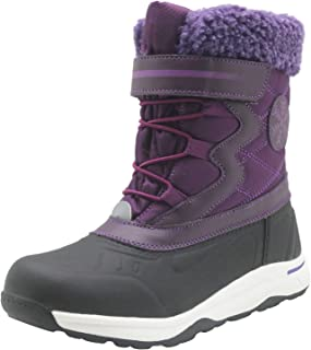 Apakowa Kids Boys Girls Insulated Snow Boots Waterproof Winter Cold Weather Shoes