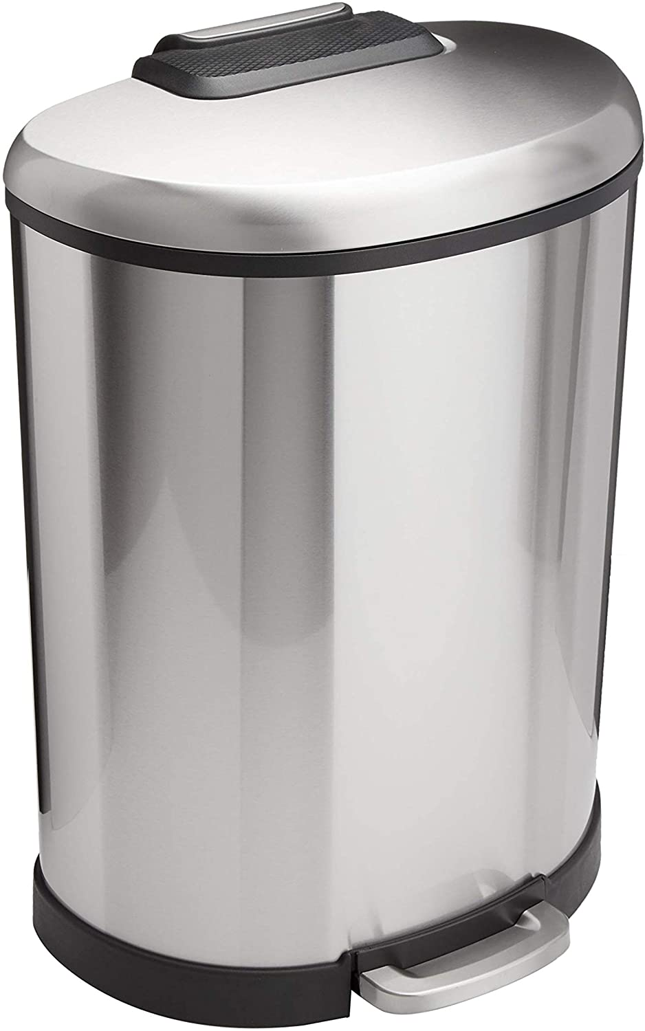 Amazon Basics 50 Liter 13.2 Gallon Soft-Close F Large special price !! Can New Shipping Free Trash with