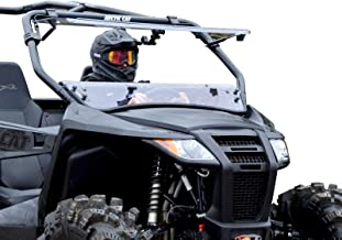 SuperATV Heavy Duty Scratch Resistant 3-IN-1 Flip Windshield for Arctic Cat Wildcat Trail (2014+) - Can Be Set To 3 Different Positions!
