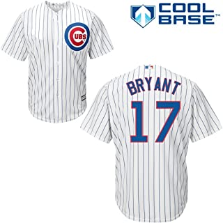 Majestic Kris Bryant Chicago Cubs #17 Men's Cool Base Home Jersey (Xlarge)