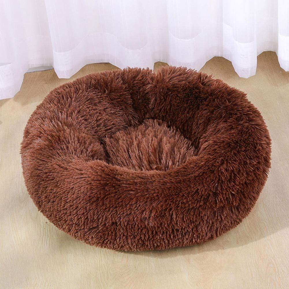 ZHHRHC Luxury Long Plush Dounts OFFicial store Dog Bed Import Pet K Calming Basket