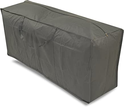 Woodside Water Resistant Outdoor Garden Furniture Cushion Storage Bag, Grey, Heavy Duty 600D Material, 5 YEAR GUARANTEE