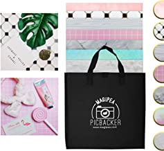Photo Backdrop Boards for Flat Lay & Food Photography: Realistic, Non-Reflective, Waterproof & Durable - 13x13 Set with 7 Designs
