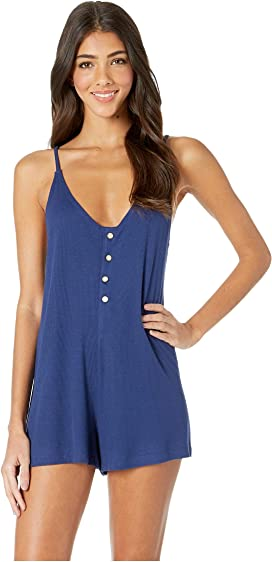 962ba84a19f85 Splendid Fresh Prints Romper Cover-Up with Pockets at Zappos.com