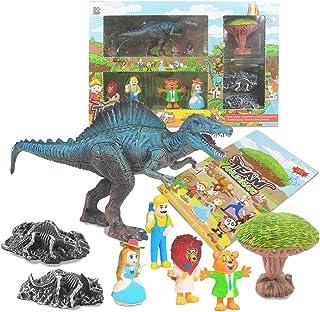 Dorakitten Kids Dinosaur Toy Set Funny Interactive Dinosaur Fossil Toy Dinosaur Scene Toys PVC(Polyvinyl chloride) plastic