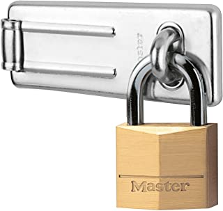 "Galvanised 6/"" inch Wire Hasp /& Staple shed lock padlock"