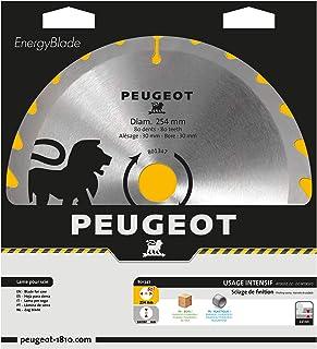 Peugeot Outillage 801347 Peugeot Ø254mm Lame à pastilles carbure Ø254mm-Alésage 30 mm-80T