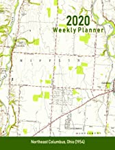2020 Weekly Planner: Northeast Columbus, Ohio (1954): Vintage Topo Map Cover