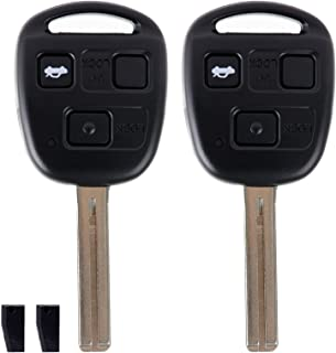 ECCPP Replacement fit for Uncut Keyless Entry Remote Key Fob Lexus LS430/ ES330 HYQ12BBT (Pack of 2)