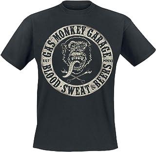 Gas Monkey Garage Blood, Sweat & Beers Männer T Shirt schwarz Fan Merch, Rockabilly, TV Serien