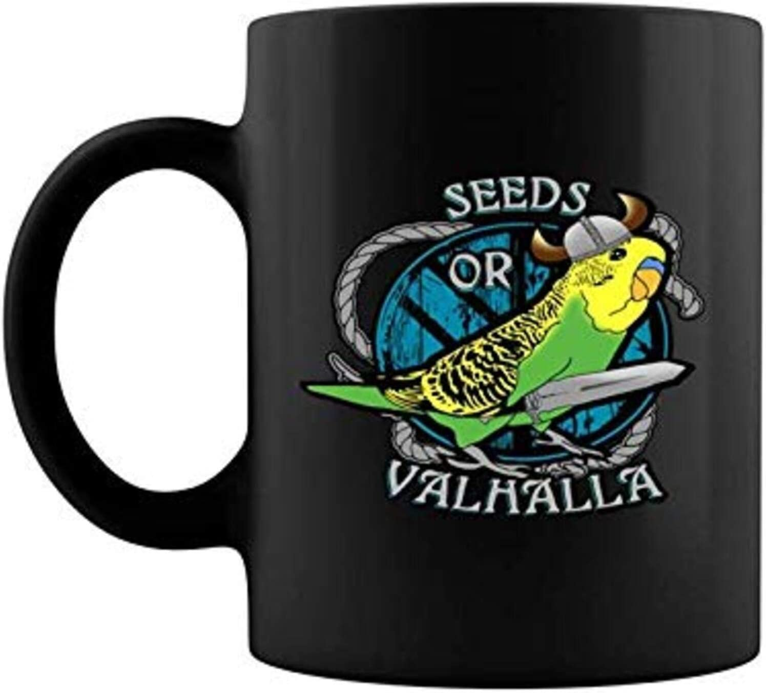 Seeds Or Valhalla Viking Birb Bird Funny Budgie Max 80% OFF Amp 11 15 Green Outlet sale feature