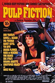 Pyramid America Pulp Fiction Uma Thurman Smoking Movie Cool Wall Decor Art Print Poster 24x36