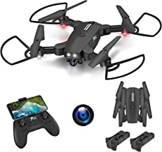 $62 » AOKESI Drones with 720P Camera for Adults Long Flight Time Drones for Beginners with 2 Modular Batteries,GPS FPV RC Quad C...