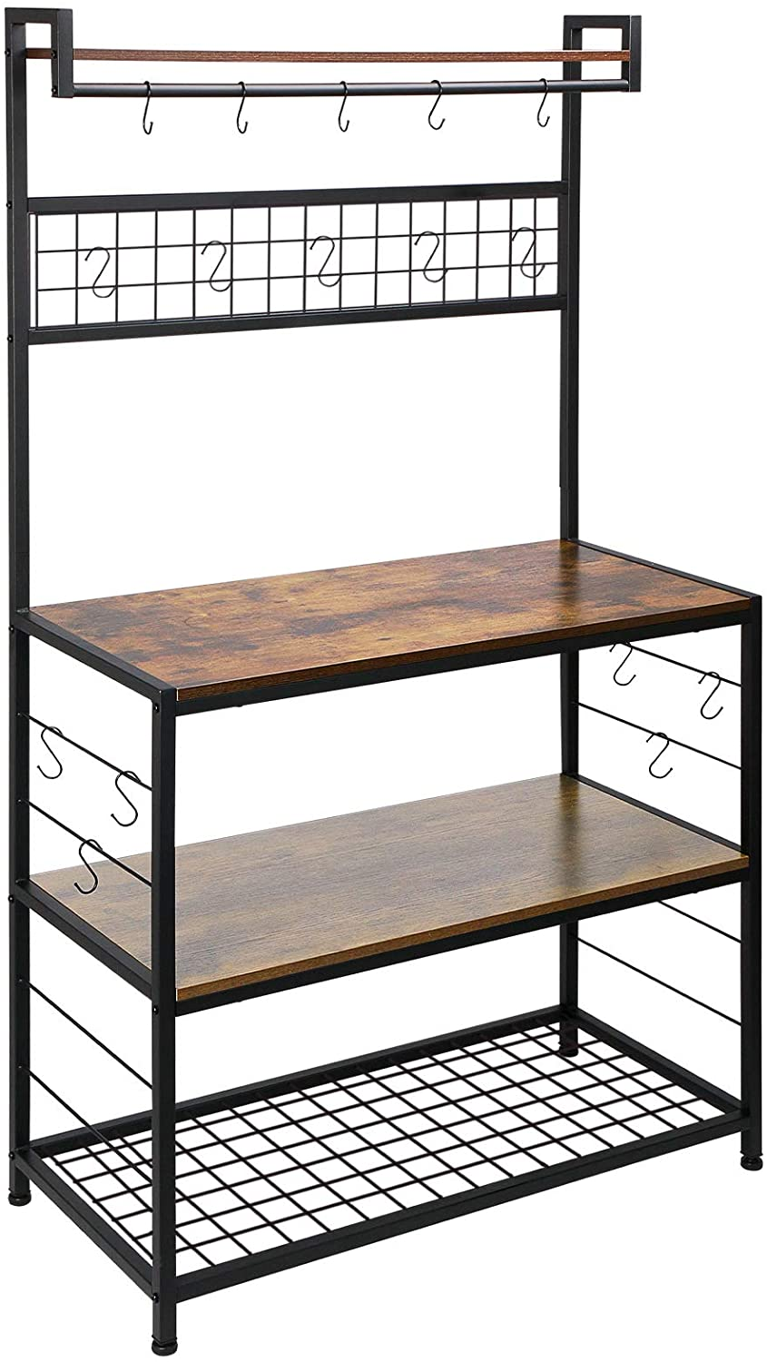 HOMEKOKO Kitchen Bakers Rack with Some reservation Manufacturer direct delivery Hooks Microwave for 16