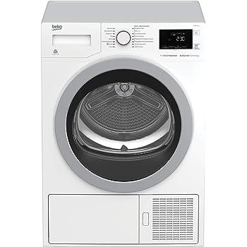 Beko DE8634RX0 Kondenstrockner mit Wärmepumpentechnologie/FlexySense - Elektronische Feuchtemessung / 16 Programme/Kombinierter Filtermechanismus/Beladungskapazität 8 kg