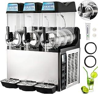BuoQua 600W 36L Slushy Machine Electrique Smoothie Maker Machine Sorbetière Smoothie Mushy Glace Capacité 12LX3 Réservoirs