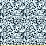 ABAKUHAUS Vintage Blue Microfaser Stoff als Meterware,