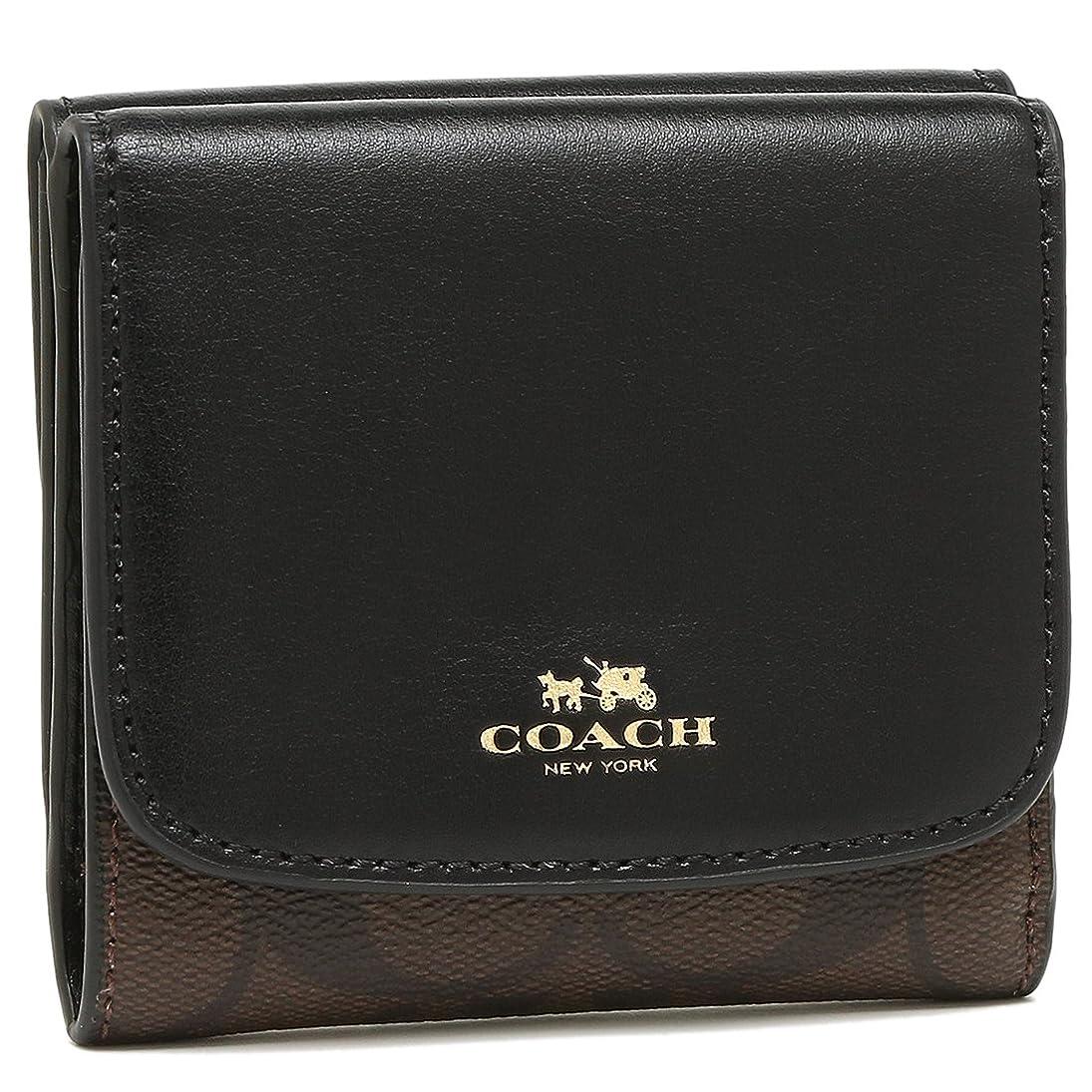 独立時計チェスをするCOACH 財布 アウトレット コーチ F53837 IMAA8 シグネチャー スモールウォレット 二つ折り財布 ブラウン/ブラック [並行輸入品]