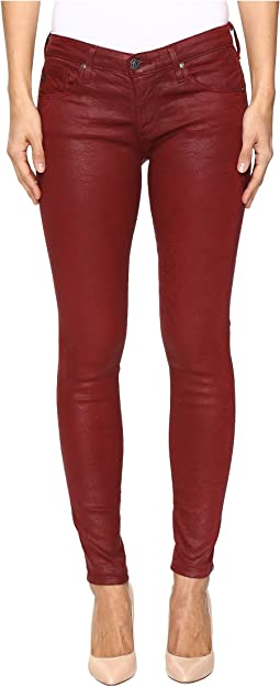 Leggings Ankle in Crackle Ruby Rouge