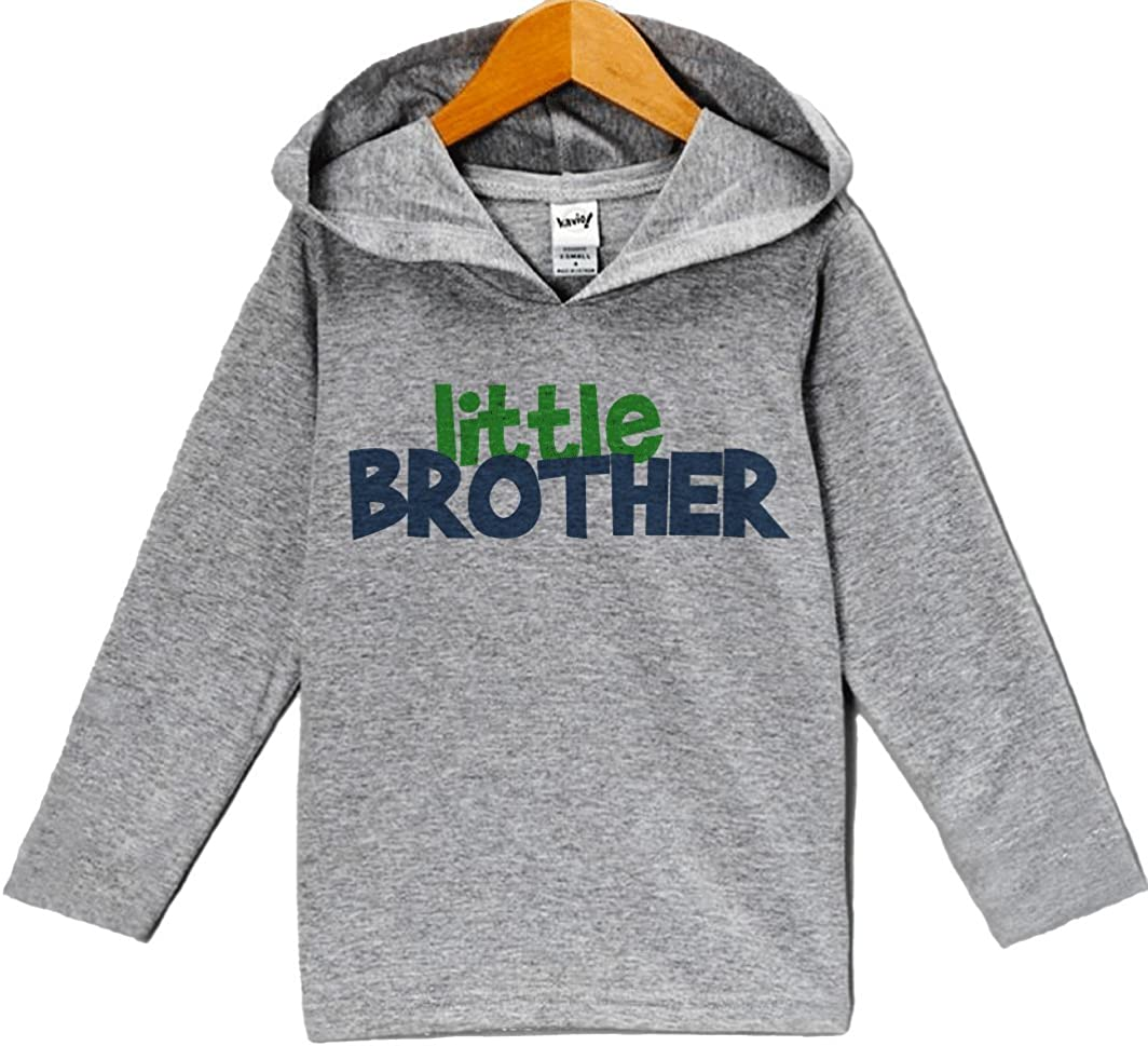 Custom Party Shop Baby Boy's Novelty Little Brother Hoodie Pullover