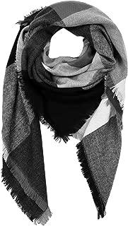 Women Stylish Blanket Plaid Scarf Oversized Checked Shawls Wrap Shawl Pashmina