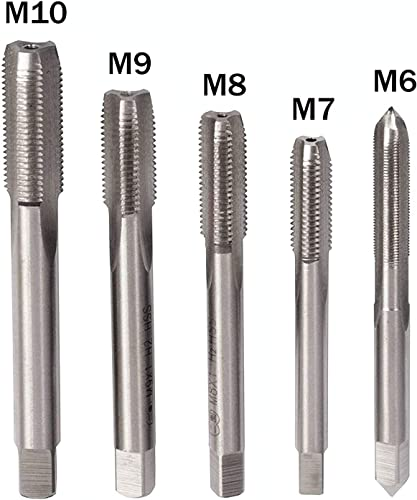 2021 5pcs M6 - M10 Straight Metric Thread Tap outlet online sale Set Steel high quality Threading Tapping Tool M6 M7 M8 M9 M10 outlet online sale
