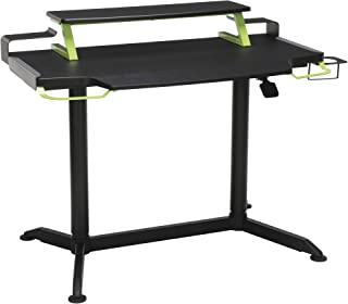 RESPAWN 3000 Gaming Computer Desk - Ergonomic Height Adjustable Gaming Desk, in Green