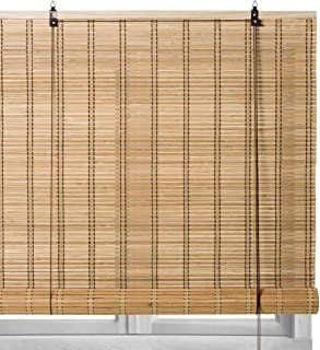 Estor Enrollable Beige de bambú rústico de 180x90 cm - LOLAhome