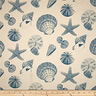 Premier Prints Shells Pacific/Natural Fabric by The Yard