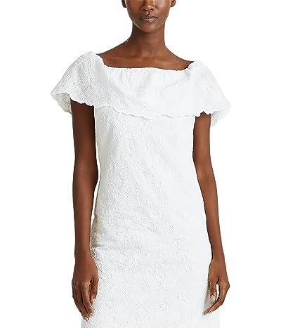 LAUREN Ralph Lauren Tulle Off-the-Shoulder Dress