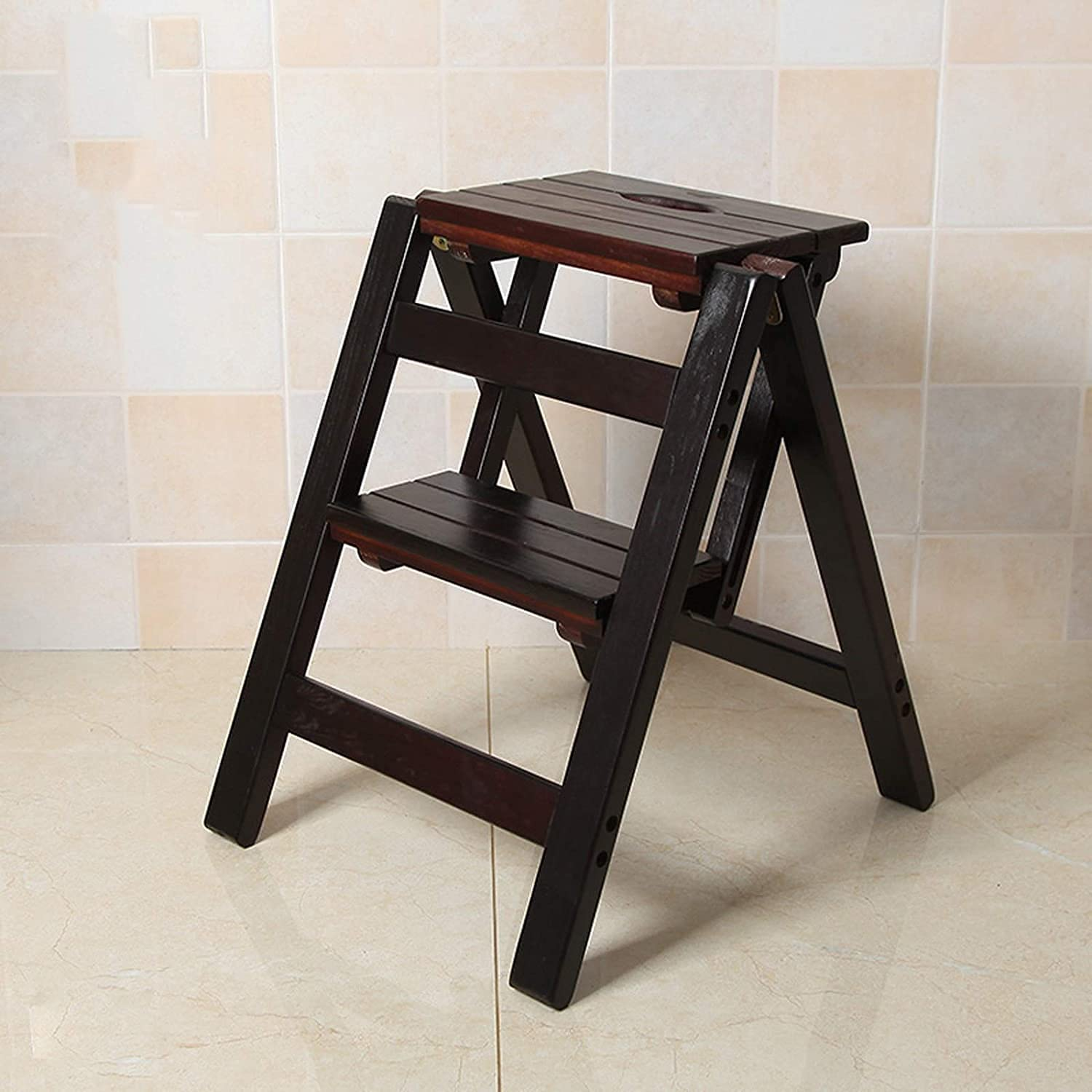 CNZXCO Kitchen Step Stool Fixed price for sale Solid Manufacturer OFFicial shop La Wood Stepladders Folding