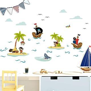 Little Deco Pegatinas pirata barcos & Isla del tesoro I pared pared pared pared infantil niño niño bebé decoración pared adhesivo DL332