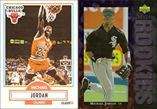 5237e1cdb78a5c Michael Jordan Lot of 2 Trading Cards  1990-91 Fleer Basketball Card and  1994