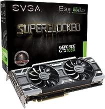 EVGA GeForce GTX 1080 SC GAMING ACX 3.0, 8GB GDDR5X, LED, DX12 OSD Support (PXOC) Graphics Card 08G-P4-6183-KR