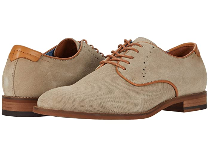 Johnston and Murphy  Milliken Plain Toe (Stone Embossed Suede) Mens Shoes