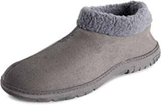 POLAR Mens Memory Foam Cozy Winter Rubber Sole Warm Plush Luxury Outdoor House Fleece Lined Slipper